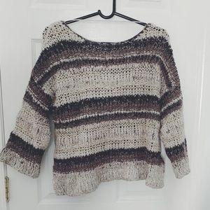 Free People Autumn Knit Oversized Sweater